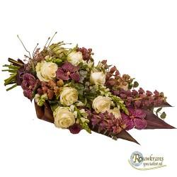 Chique Purpura rouwboeket