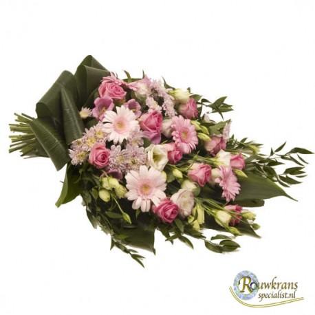 Rouwboeket klassiek roze