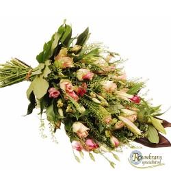 Zacht roze rouwboeket
