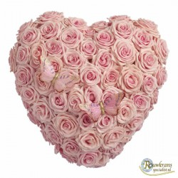 Gevuld roze rozenhart