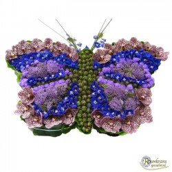 Vlinder blauw - paars