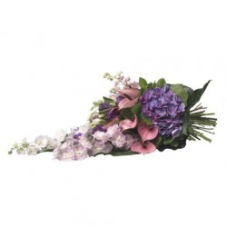 Rouwboeket paars-blauw